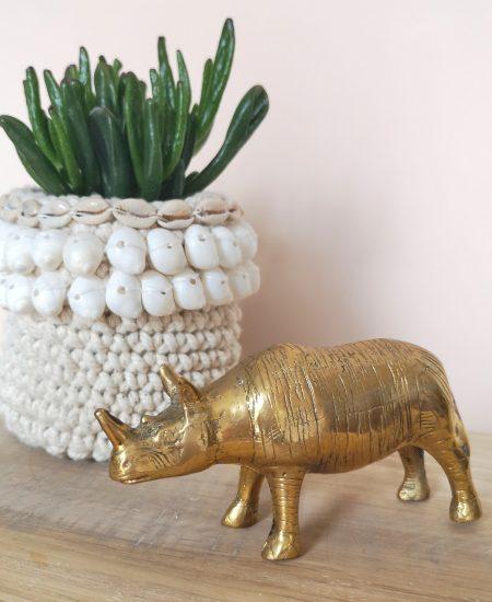 Gouden neushoorn messing rhino