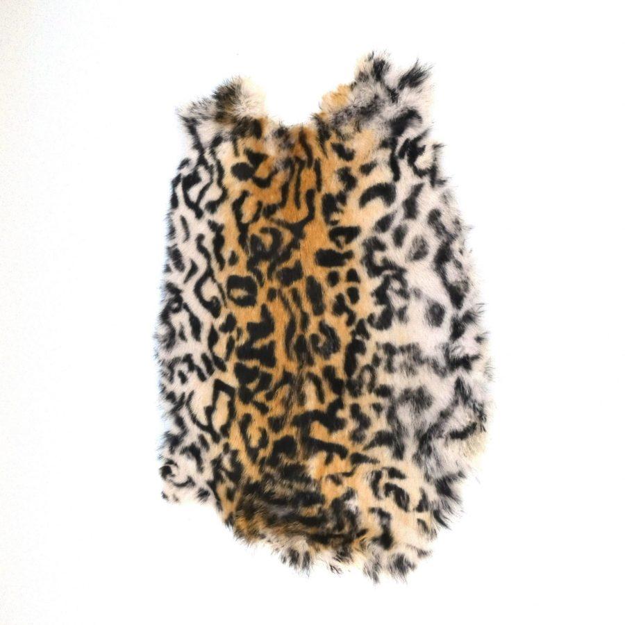 Konijnenvachtje leopard print