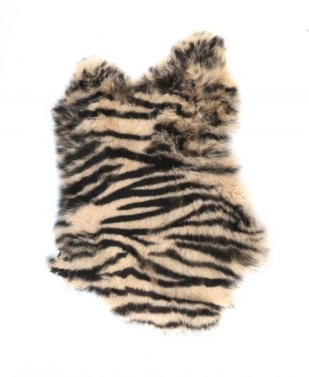 Konijnenvachtje zebra print