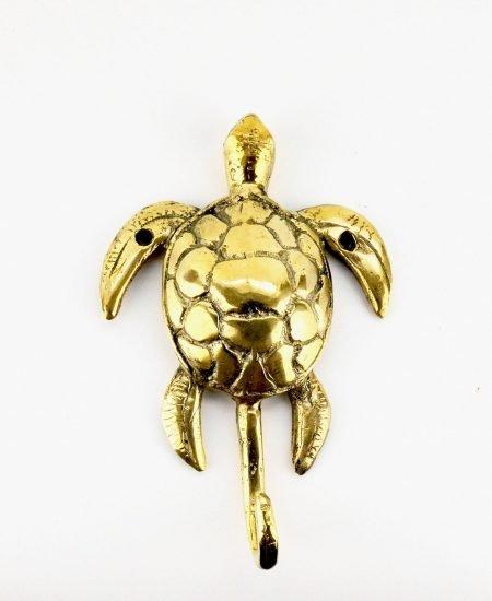 Messing wandhaakje schildpad brass hook turtle