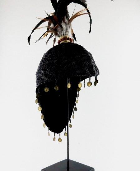 Papua hoed op standaard zwart