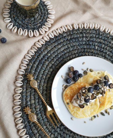 Placemat schelpjes zeegras bali