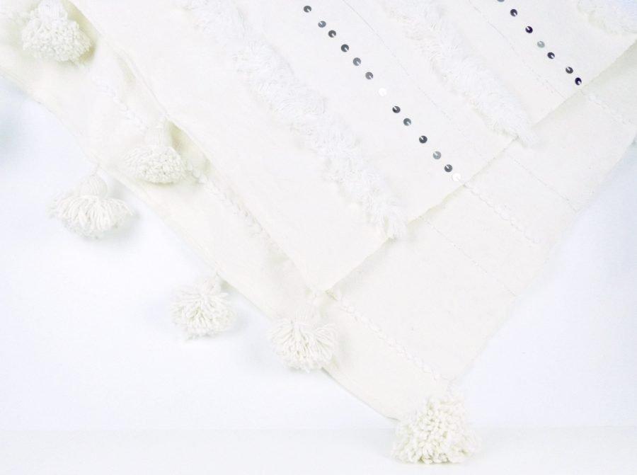 Pompom handira kleed wit
