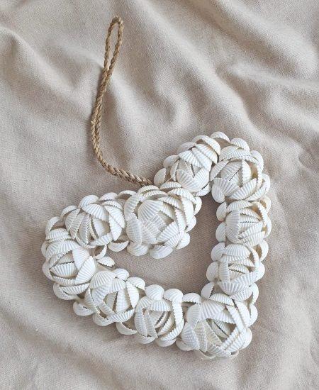 Schelpen decoratie hart bali klein