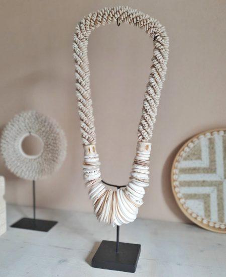 Schelpenketting op standaard bali pearl chain