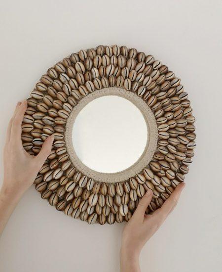 Spiegel schelpenrand bali