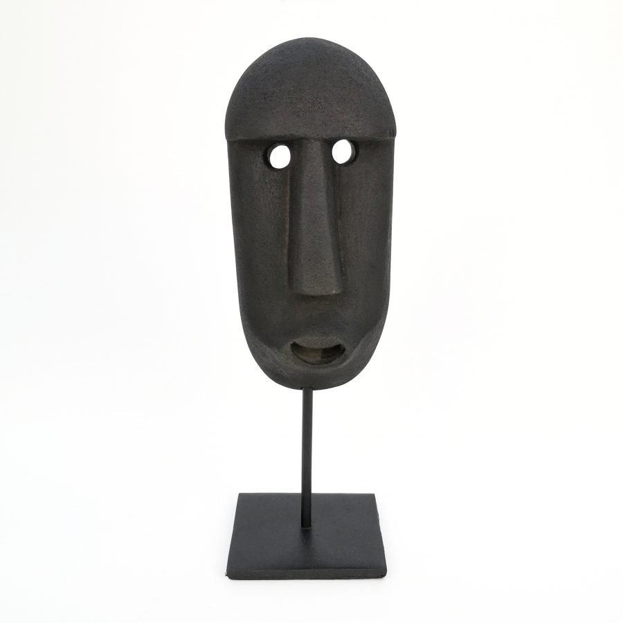 Sumba masker op standaard zwart