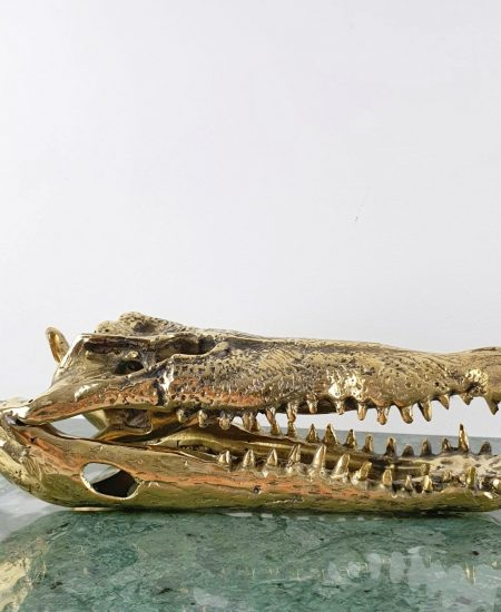 Bronzen krokodil bali