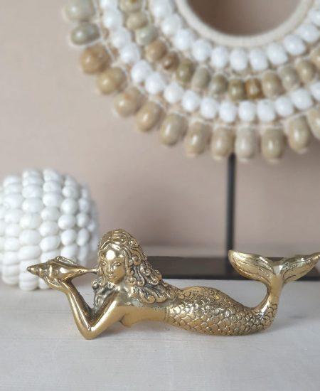 Gouden zeemeermin decoratie