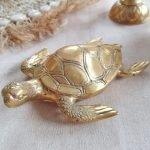 Messing goud schildpad