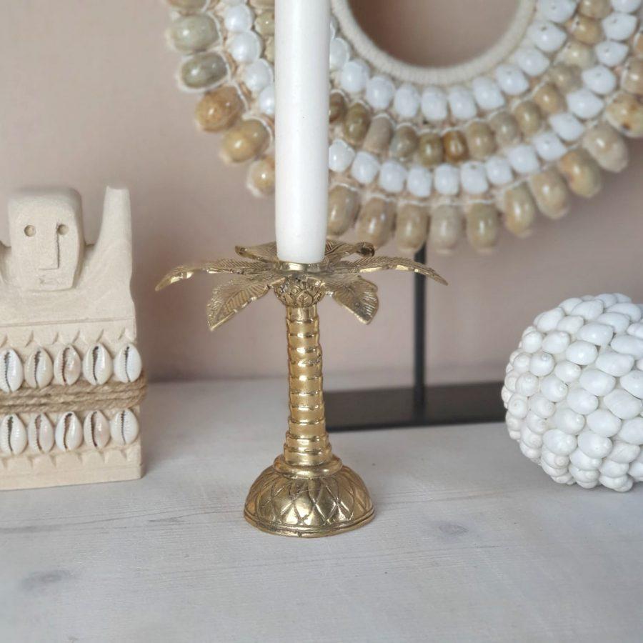 Palmtree kandelaar goud