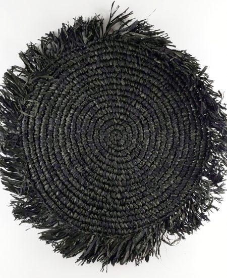 Placemat raffia zwart bali