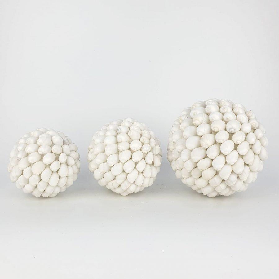 Schelpenbol wit bali set