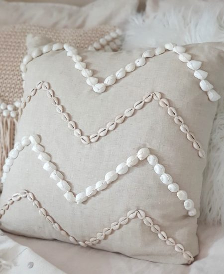 Pillow Talk Patern kussen schelp bali