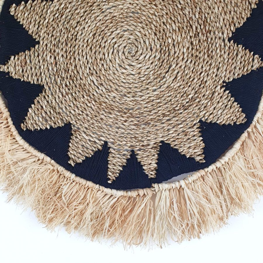 The fringes star black placemat bali
