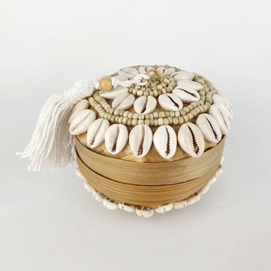 Treasure chest schelpenbakje bali kraaltjes schelpjes
