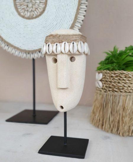 Papua masker Bowy stone man op standaard bali sumba