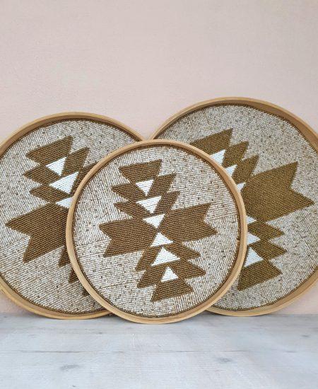 Dienbladen wanddecoratie bali aztec