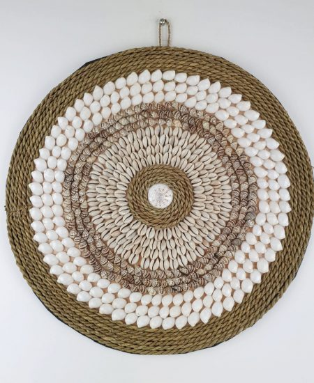 Muurhanger schelpjes touw bali 1