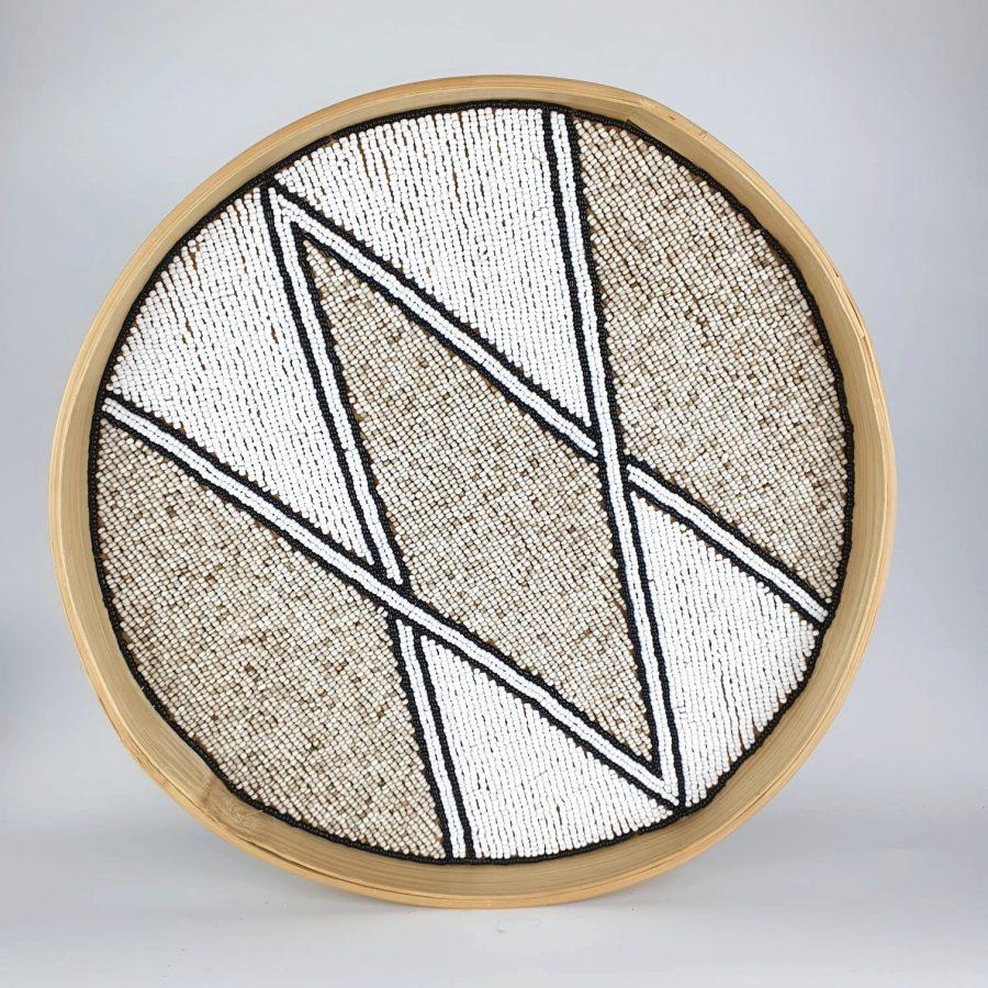 Dienblad wandhanger muurcirkel bali diamond 2