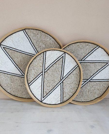 Dienblad wandhanger muurcirkel bali diamond 5