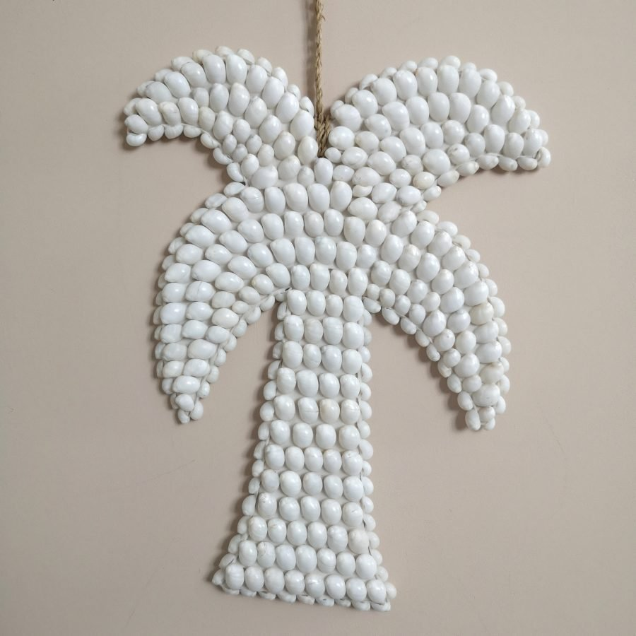 Palmboom wandhanger schelp bali 1